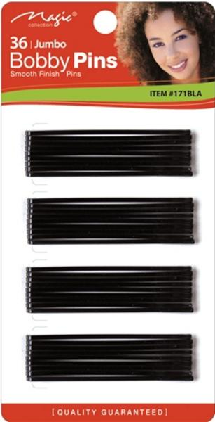 Magic Collection 36 Jumbo Bobby Pins - 171blk