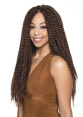 Sleek Synthetic Fashion Idol Mambo Reggae Twist 20''