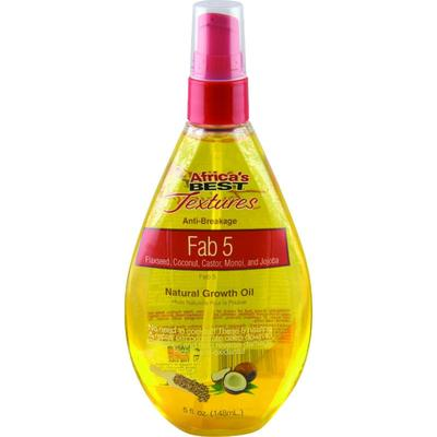 Africa's Best Textures Fab 5 Natural Growth Oil