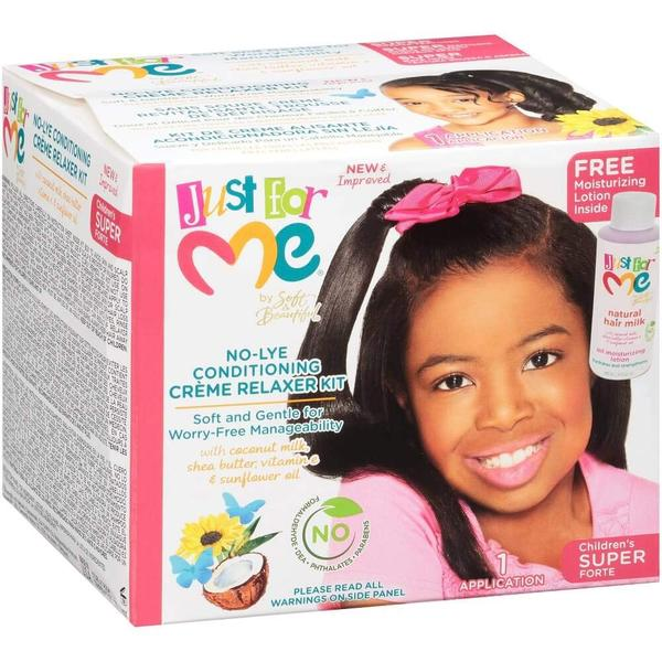 Just For Me No-lye Conditioning Crème Relaxer Kit