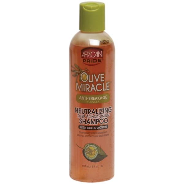 African Pride Olive Miracle Anti-breakage Neutralizing Deep Conditioning Shampoo