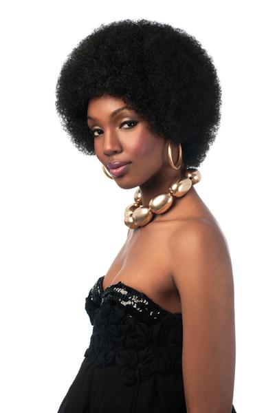 Sleek Synthetic Wig Big Afro