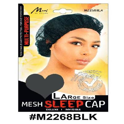 Murry Large Mesh Sleep Cap Black - M2268blk