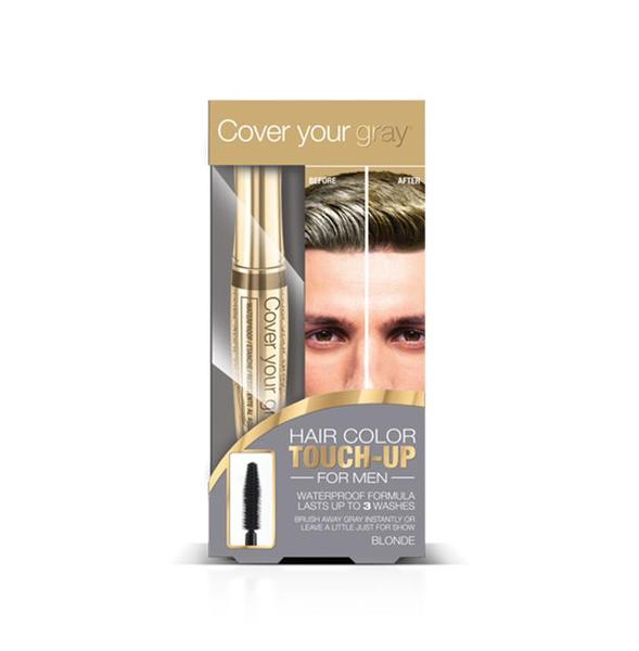 Cover Your Gray Mens Waterproof Brush In Hair Color Touch-up