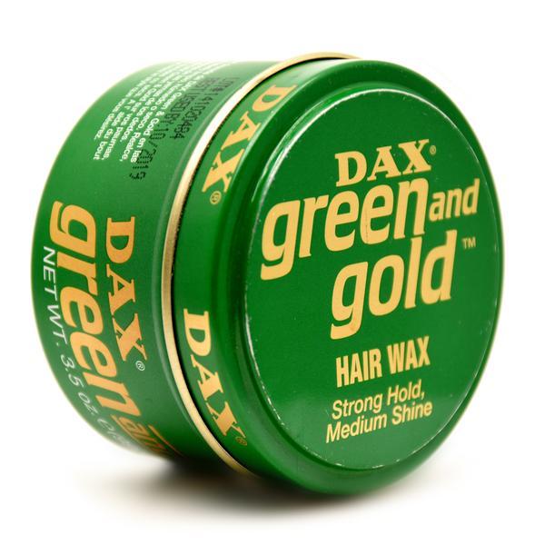 Dax Green & Gold Hair Styling Wax 3.5oz