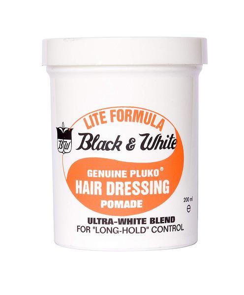 Black & White Hair Dressing Pomade Lite