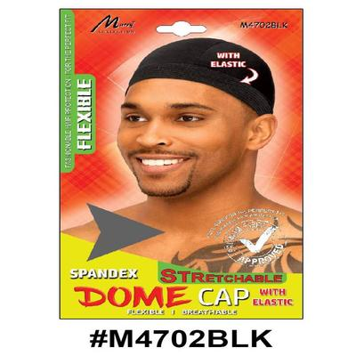 Murry Dome Cap With Elastic Black - M4702blk