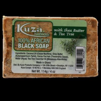 Kuza 100% African Black Soap Shea Butter & Tea Tree