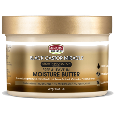 African Pride Black Castor Miracle Prep & Leave In Moisture Butter