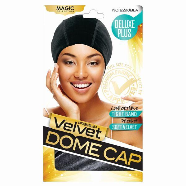 Magic Collection Velvet Dome Cap - 2290bla