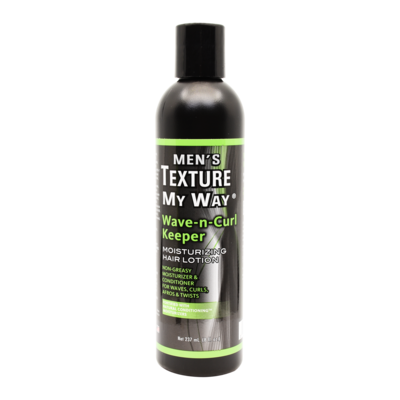 Texture My Way Men's Wave-n-curl Keeper Moisturizing Hair Lotion