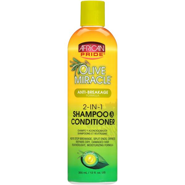 African Pride Olive Miracle 2-in-1 Shampoo And Conditioner