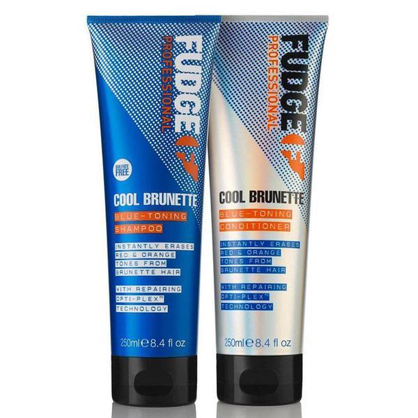 Fudge Cool Brunette Blue-toning Shampoo & Conditioner