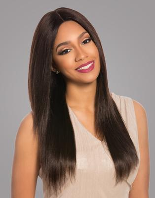 Sensationnel Bare & Natural Brazilian Virgin Remi Lace Wig - Natural Yaki 4x4