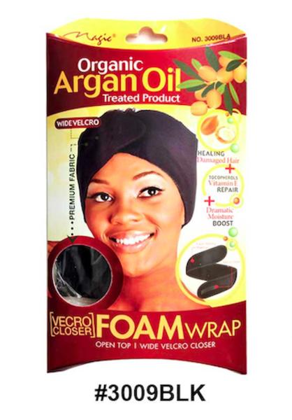 Magic Collection Women's Organic Argan Oil Treated Foam Wrap - 3009Blk