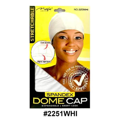 Magic Collection Women's Stretchable Dome Cap 2251whi