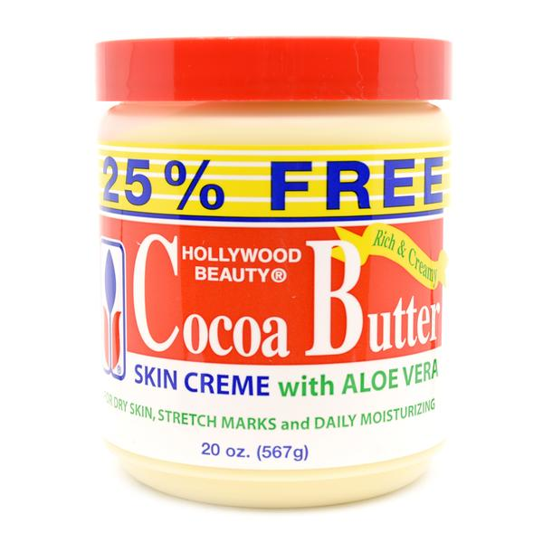 Hollywood Beauty Cocoa Butter Skin Creme With Aloe Vera