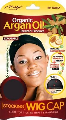Magic Collection Women's Organic Argan Oil Treated Wig Cap Black - ( 3000 )