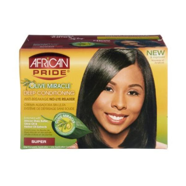 African Pride Olive Miracle relaxer System Super