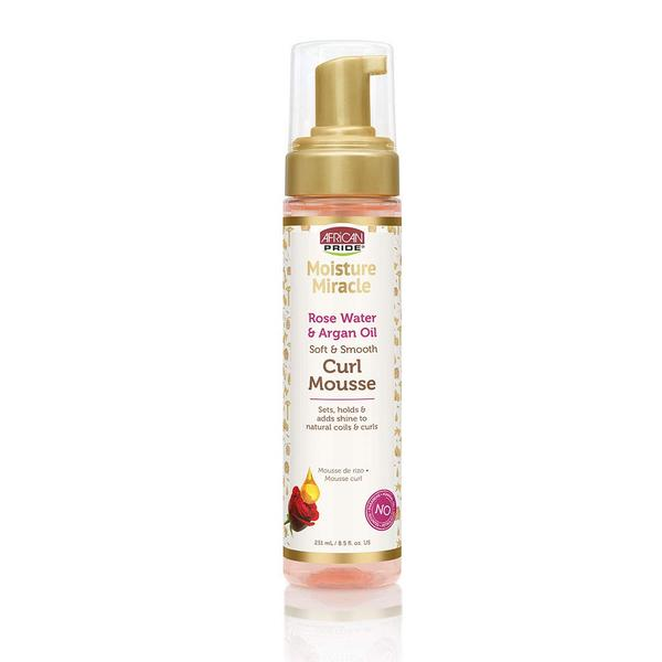 African Pride Moisture Miracle Rose Water And Argan Oil Curl Mousse