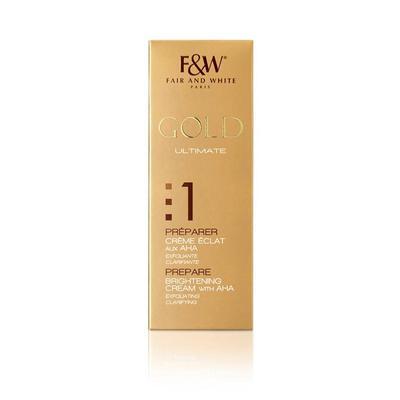 Fair & White Gold Prepare Brightening Cream With Aha