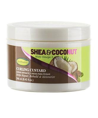 Sof N' Free Gro Healthy Shea & Coconut Curling Custard