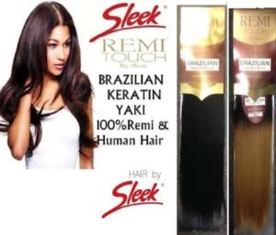 Sleek 100% Human Hair Remy Touch Brazilian Keratin Weave