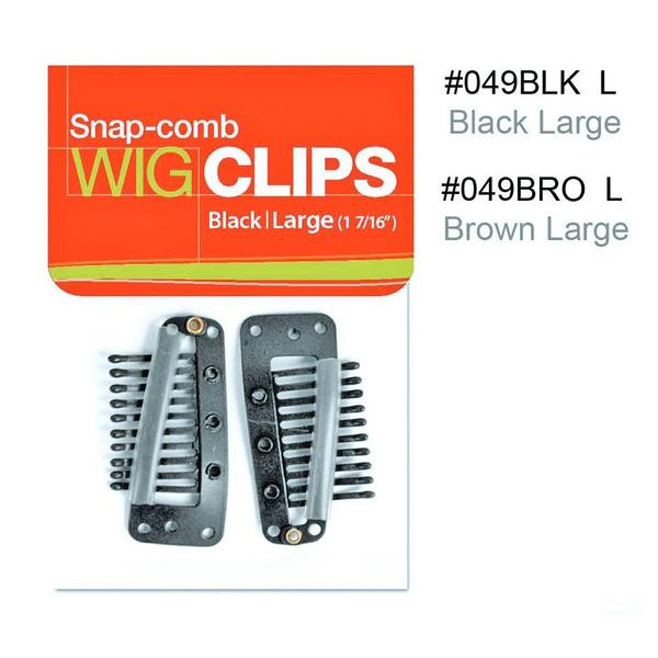 Magic Collection Snap-comb Wig Clips Large Black 049blk L