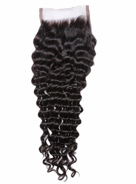Sleek Brazilian Human Hair Deep Wave Closure 4'' X 2''