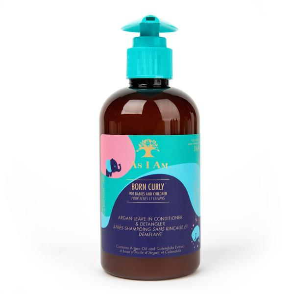 As I Am Born Argan Curly Leave In Conditioner And Detangler
