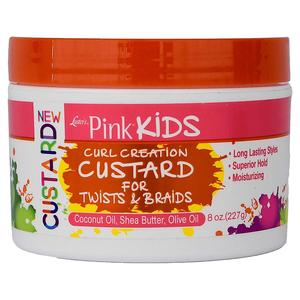 Luster's  Pink Kids Curl Creation Custard For Twists & Braids