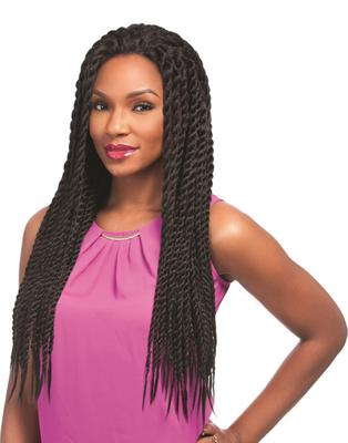 Sensationnel Empress Braided Synthetic Lace Wig - Senegal Chic Twist Braids