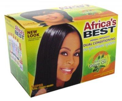 Africa's Best Dual Conditioning No Lye Relaxer Testing