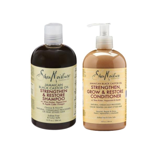 Shea Moisture Jamaican Black Castor Oil Strengthen, Grow & Restore Shampoo & Conditioner Duo Pack