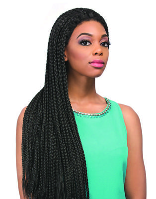 Sensationnel Empress Braided Synthetic Lace Wig - Senegal Box Braids Ii