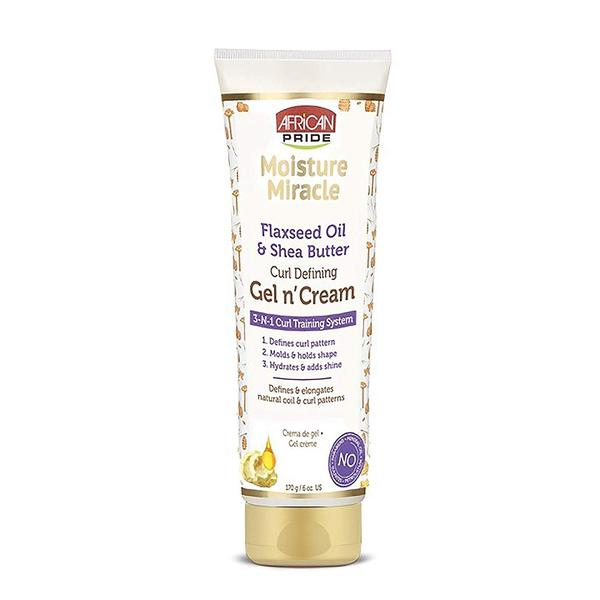 African Pride Moisture Miracle Flaxseed Oil And Shea Butter Gel N' Cream