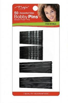 Magic Collection 50 Assorted Size Bobby Pins - 918blk