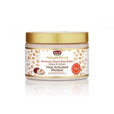 African Pride Moisture Miracle Moroccan Clay & Shea Butter Heat Activated Masque
