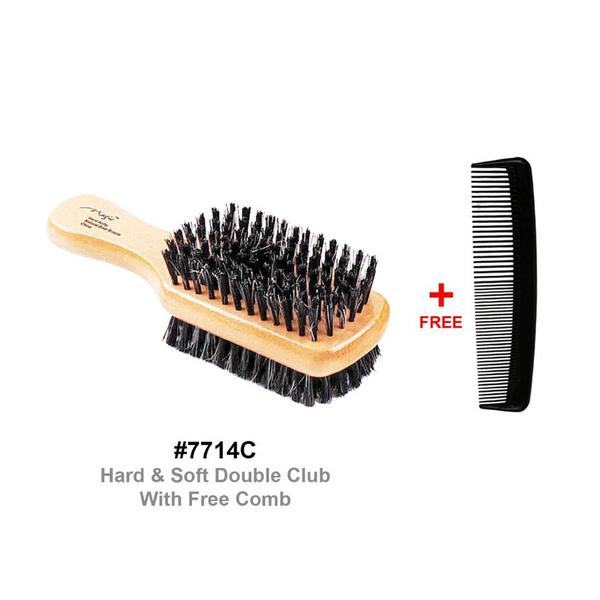 Magic Collection Hard/soft Double Club Brush With Free Comb 7714c