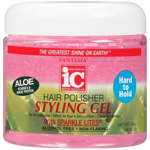 Ic Fantasia Hair Polisher Styling Gel With Sparkle Lites - Pink
