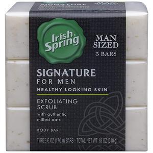 Irish Spring Signature For Men Exfoliating Scrub (pack Of 3)