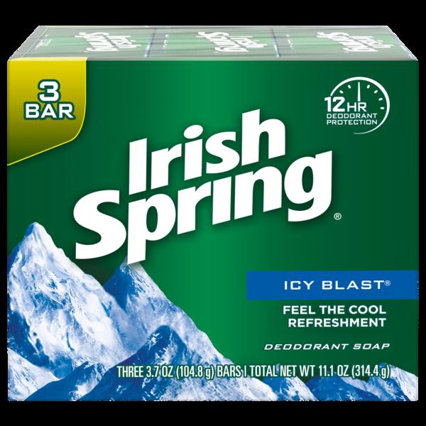 Irish Spring Icy Blast Bar Soap (pack Of 3)