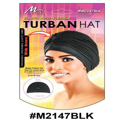 Murry Turban Hat Black - M2147blk