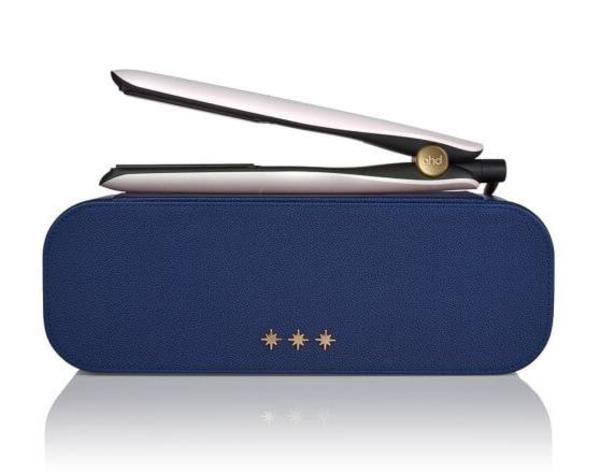 Ghd Gold Hair Straightener In Iridescent White Gift Set