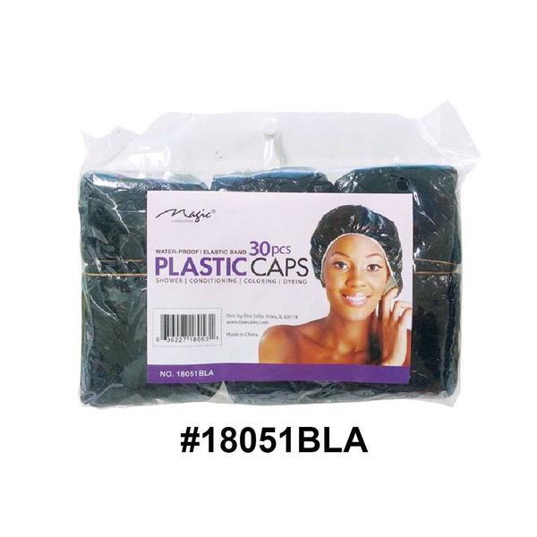 Magic Collection Women's Shower Cap 30pc Pack 18051bla