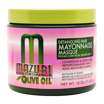 Mazuri Olive Oil Kids Detangling Hair Mayonnaise Masque