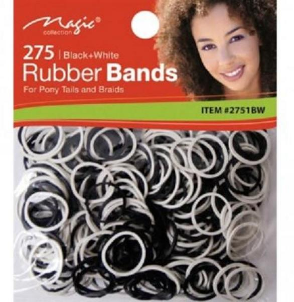 Magic Collection 275 Rubber Bands White & Black- 2751