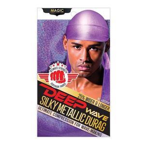 Magic Collection Deep Wave Silky Metallic Durag Purple - 4802pur