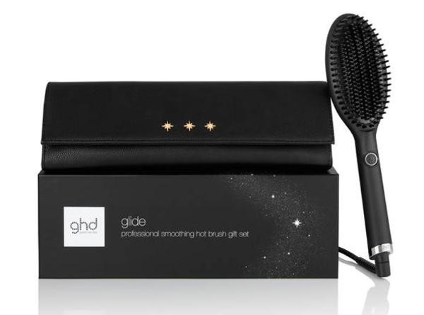 Ghd Glide Hot Brush Gift Set + (chic Styler Bag & Heat Resistant Mat)