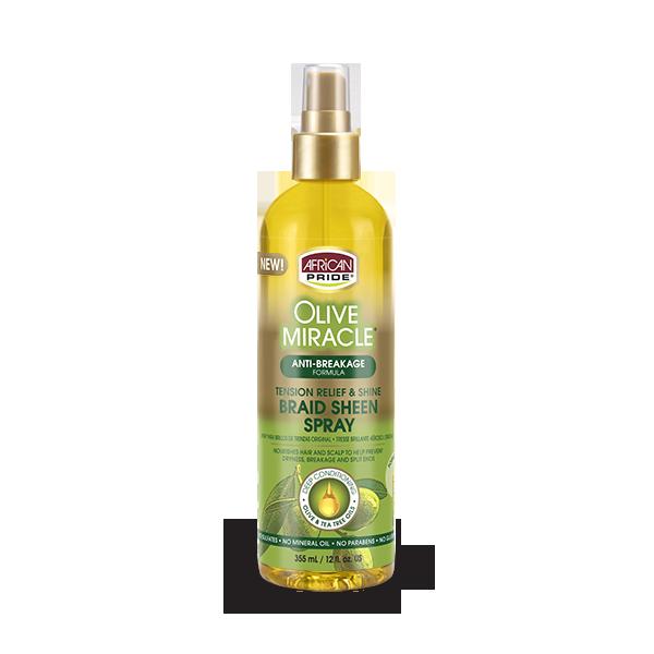 African Pride Olive Miracle Anti-Breakage Braid Sheen Spray